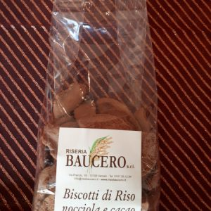 biscotti di riso nocciola e cacao